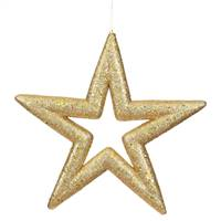 "14"" Gold Glitter Star Outdoor"
