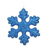 "11"" Blue Glitter Snowflake Outdoor"