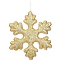 "11"" Gold Glitter Snowflake Outdoor"