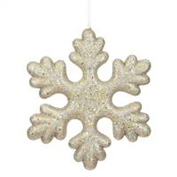 "11"" Champagne Glitter Snowflake Outdoor"