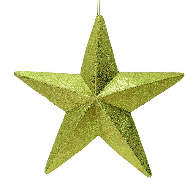 "23"" Lime Glitter Star Outdoor"