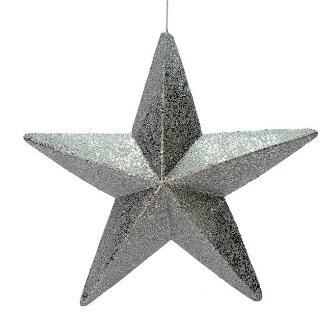 "23"" Pewter Glitter Star Outdoor"