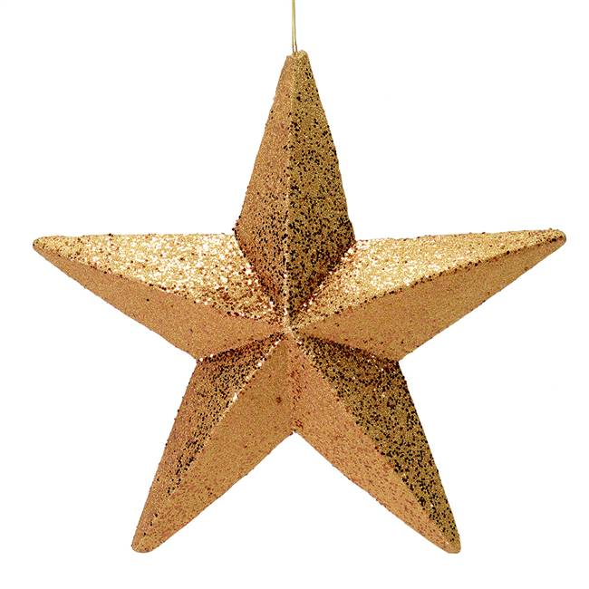 "23"" Copper Glitter Star Outdoor"
