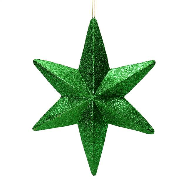 "20"" Green Glitter Bethlehem Star Outdoor"