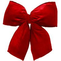 "24"" x 27"" Red Velvet Structured Bow"