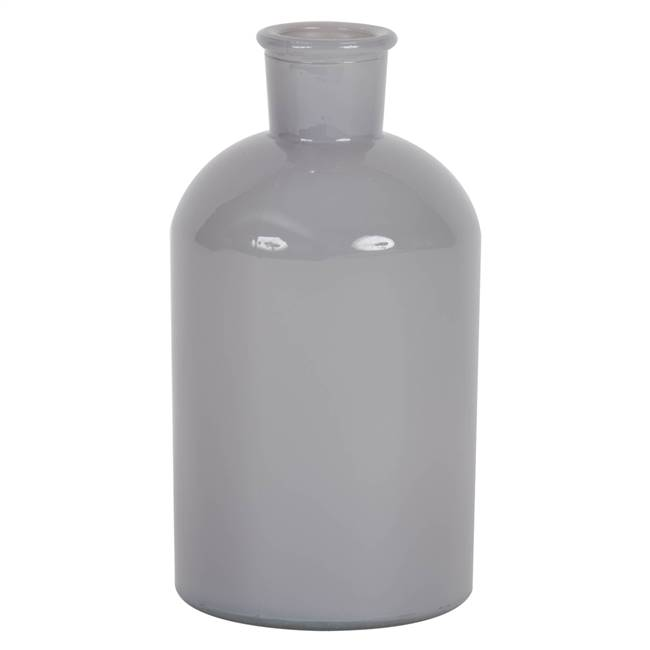 "8"" Crystal Gray Paint Glass Bottle Set/2"