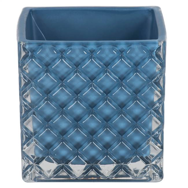"4"" Hydro Square Glass Container Set/2"