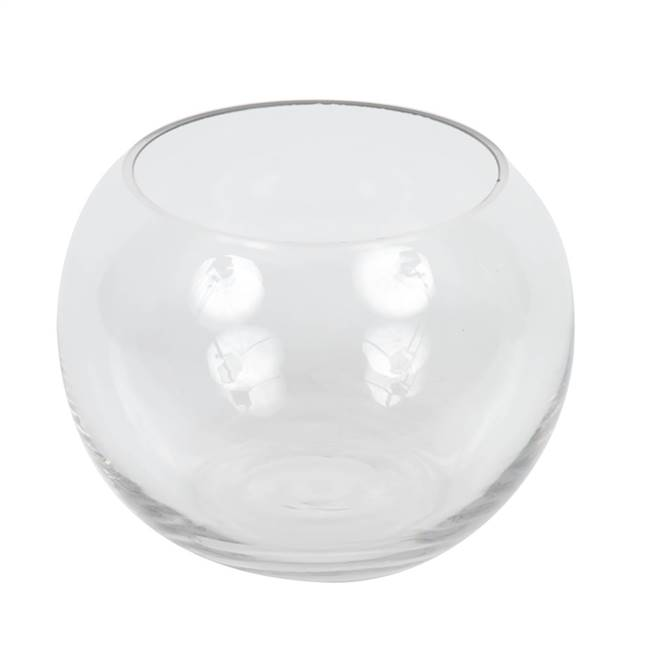 "5"" Clear Bubble Glass Container Set/2"