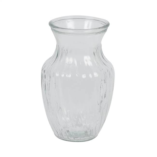 "8"" Clear Rose Vase Set/2"