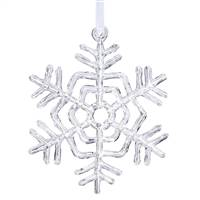 "5"" Clear Acrylic Snowflake"