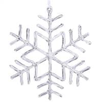 "9"" Clear Acrylic Snowflake"