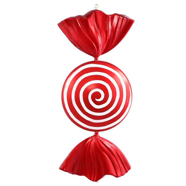 "37"" Red-White Peppermint Spiral Candy"