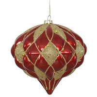 "5.7"" Red-Gold Matte-Glit Diamond Onion"