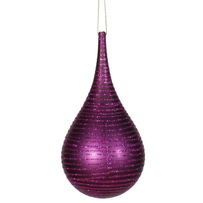 "4"" Plum Matte-Glitter Onion Drop"
