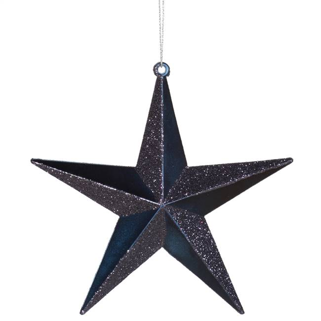"6"" Sea Blue Glitter Star"