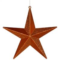 "8"" Burnish Orange Glitter Star"