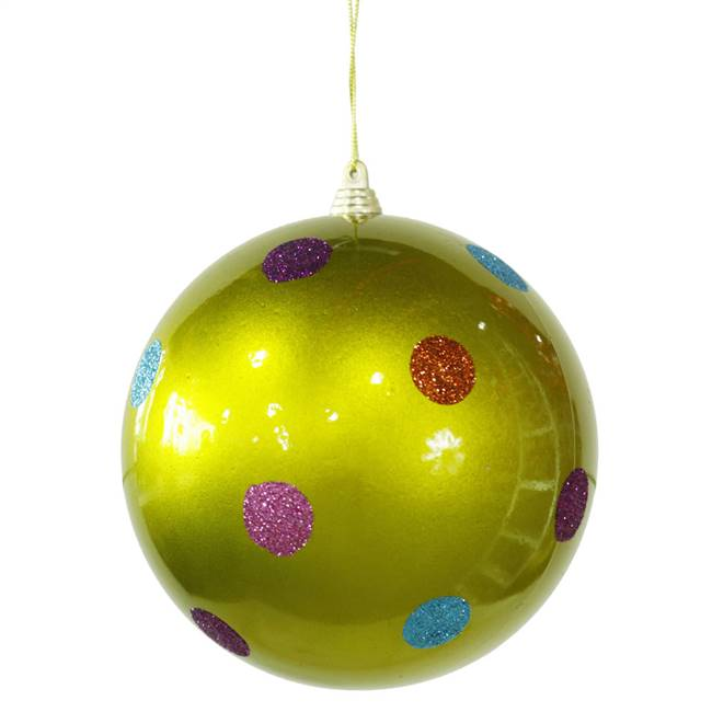 "5.5"" Lime Candy Polka Dot Ball"