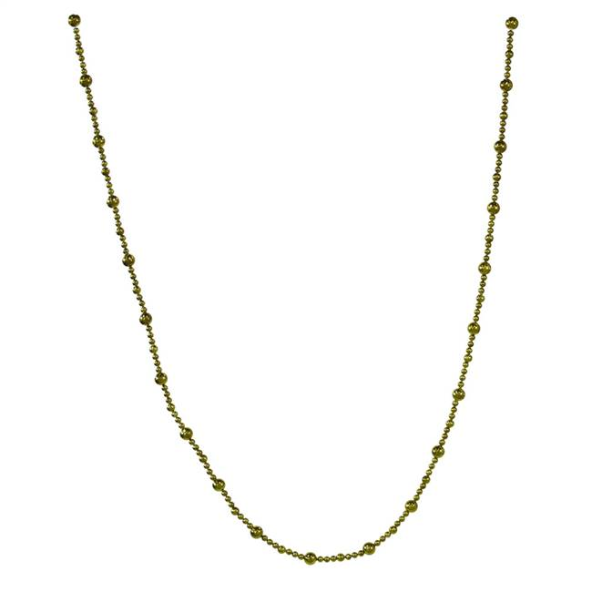 9' Dk Olive Shiny Faceted Ball Garland