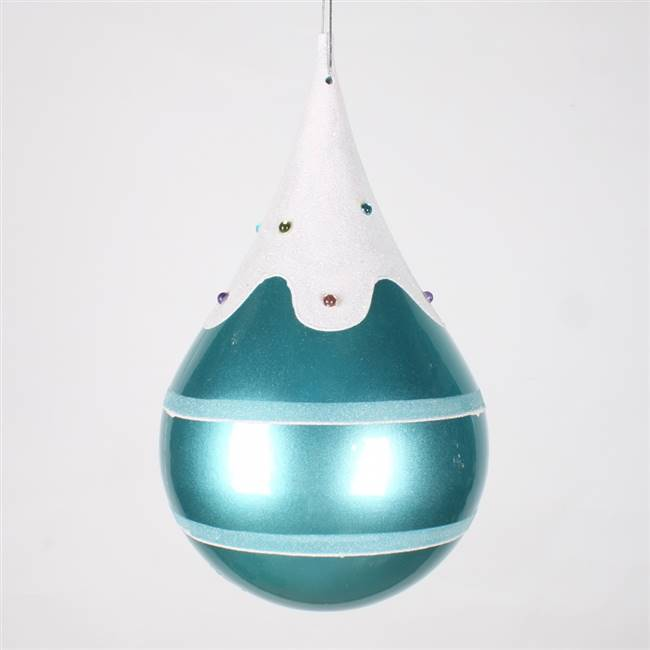 7'' Candy Teal Snow Jewel Teardrop