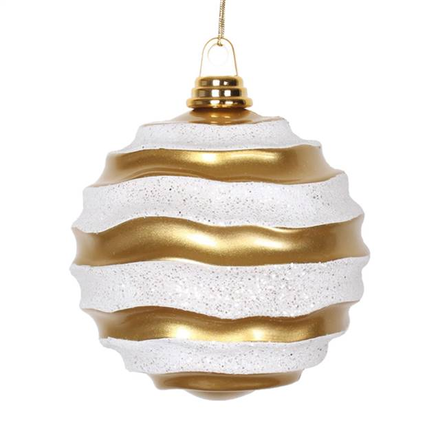 "6"" Gold-Silver Candy Glitter Wave Ball"