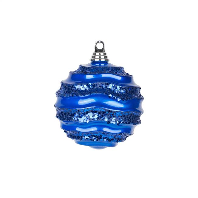"10"" Blue Candy Glitter Wave Ball"