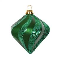 6'' Green Candy Glitter Swirl Diamond