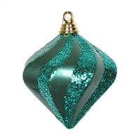 "6"" Emerald Candy Glitter Swirl Diamond"