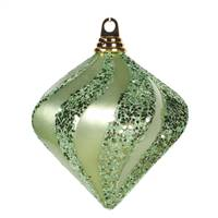 6'' Celadon Candy Glit Swirl Diamond