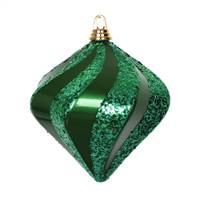 8'' Green Candy Glitter Swirl Diamond