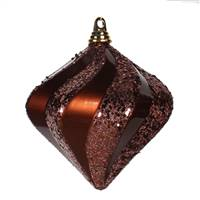 8'' Chocolate Candy Glit Swirl Diamond