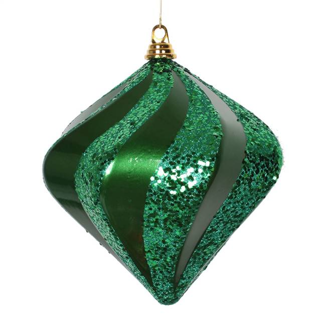 10'' Green Candy Glitter Swirl Diamond