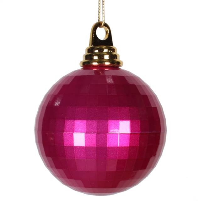 4'' Cerise Candy Mirror Ball 1/Bag