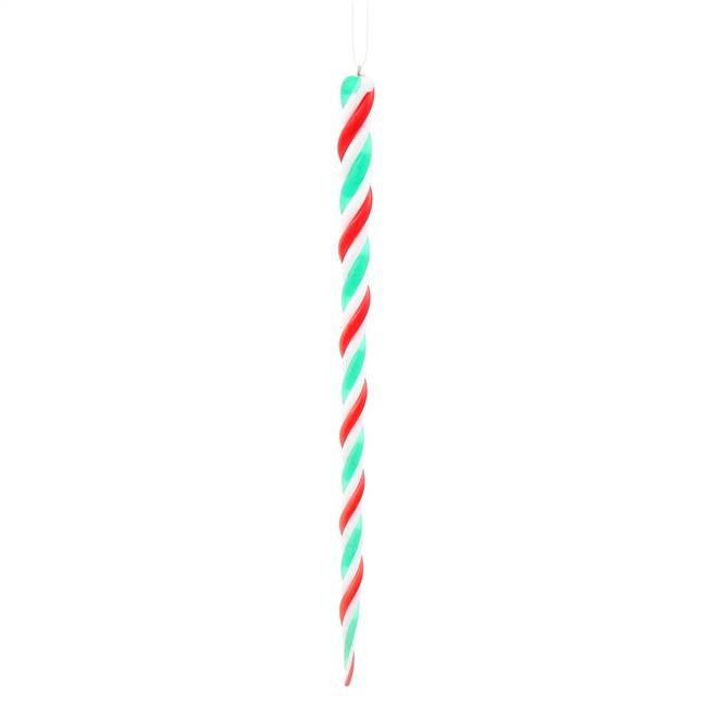 10'' Red/White/Green Icicle 6/Bag