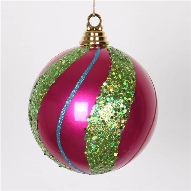 "5.5"" Ceris-Lime-Purp-Red Candy Glit Ball"
