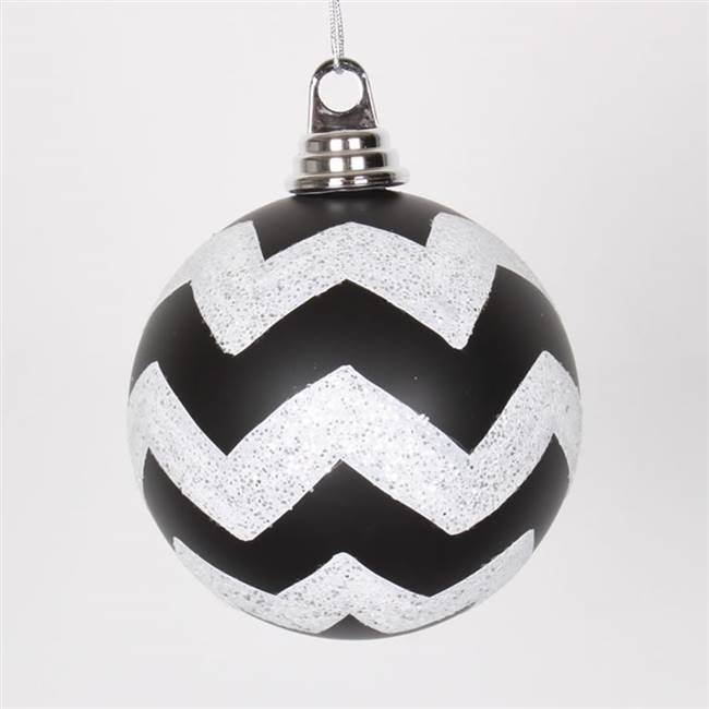 "4.75"" Black-Wht Matt-Glit Chev Ball 3/Bx"