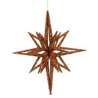 "12"" Copper 3D Glitter Star"