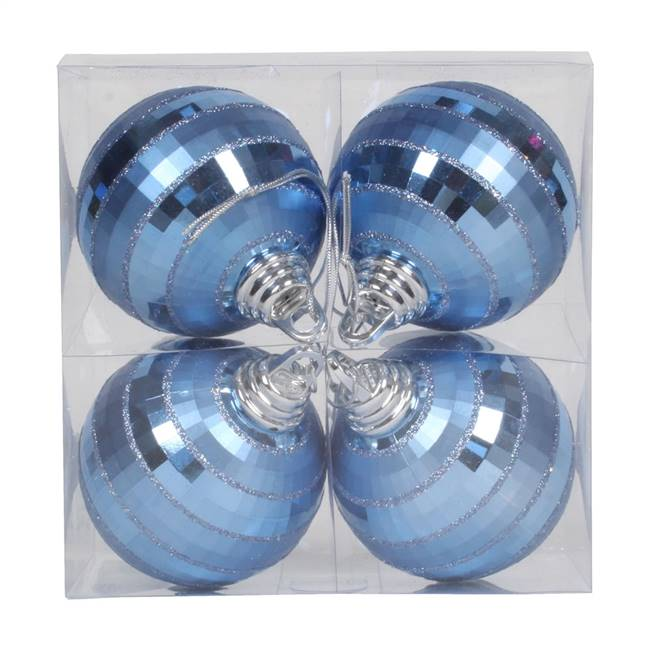 "4"" Periwinkle Shiny-Matte Mirror Ball 4/"