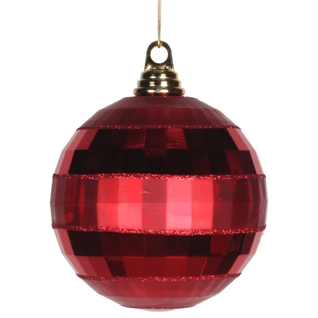 "5.5"" Red Shiny-Matte Mirror Ball"