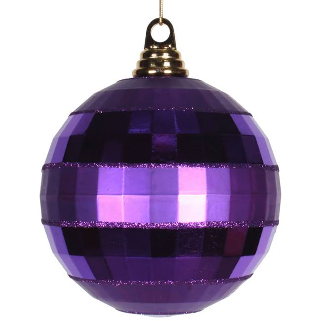 "5.5"" Purple Shiny-Matte Mirror Ball"