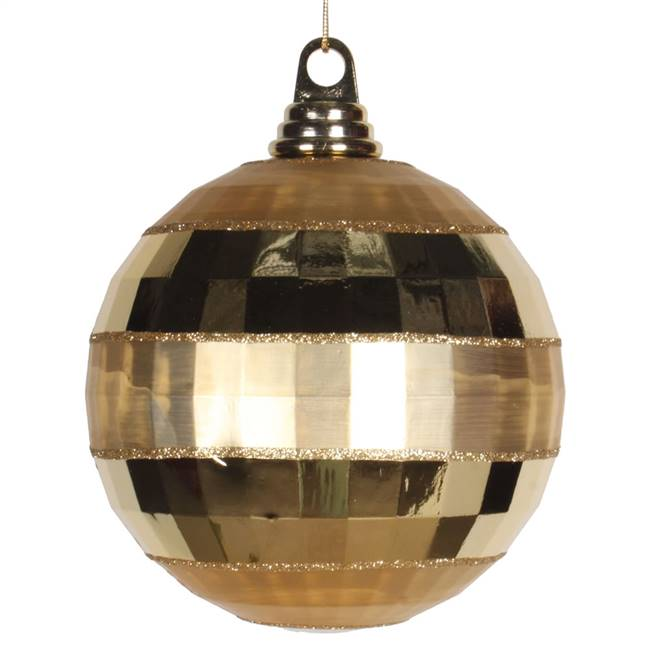"5.5"" Gold Shiny-Matte Mirror Ball"