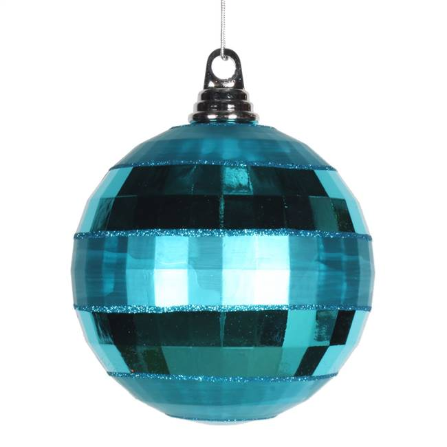 "5.5"" Turquoise Shiny-Matte Mirror Ball"