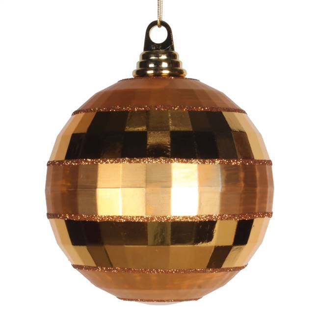 "5.5"" Antiq Gold Shiny-Matte Mirror Ball"
