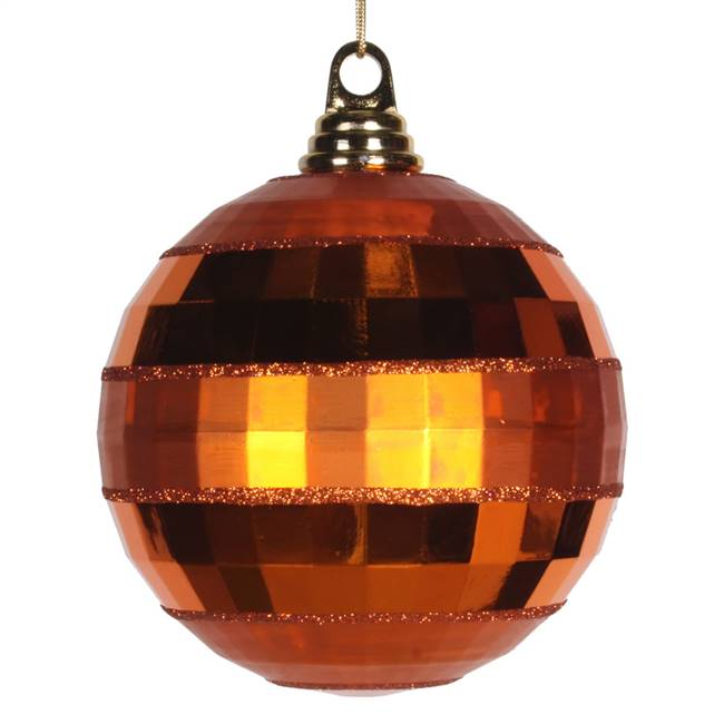 "5.5"" Bn Orange Shiny-Matte Mirror Ball"