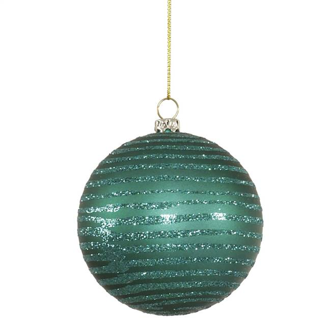 "4.75"" Emerald Matte-Glitter Ball 3/Box"