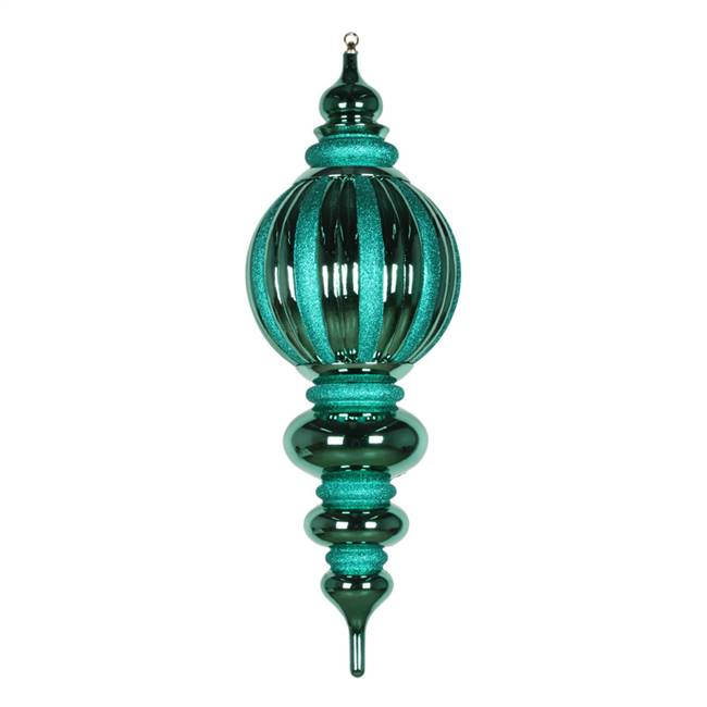 "35"" Emerald Shiny Glitter Finial"