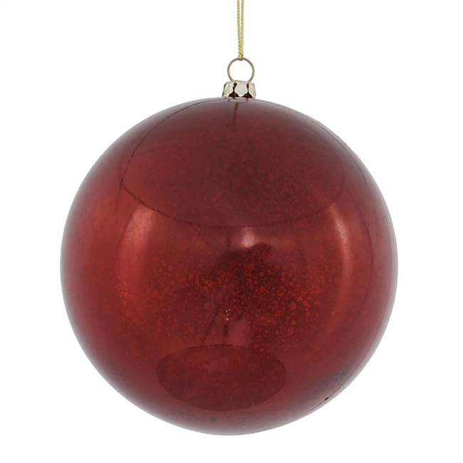 "4.75"" Burgundy Shiny Mercury Ball 4/bag"