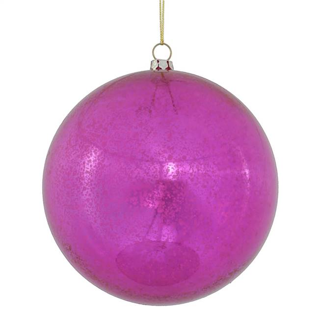 "4.75"" Cerise Shiny Mercury Ball 4/bag"