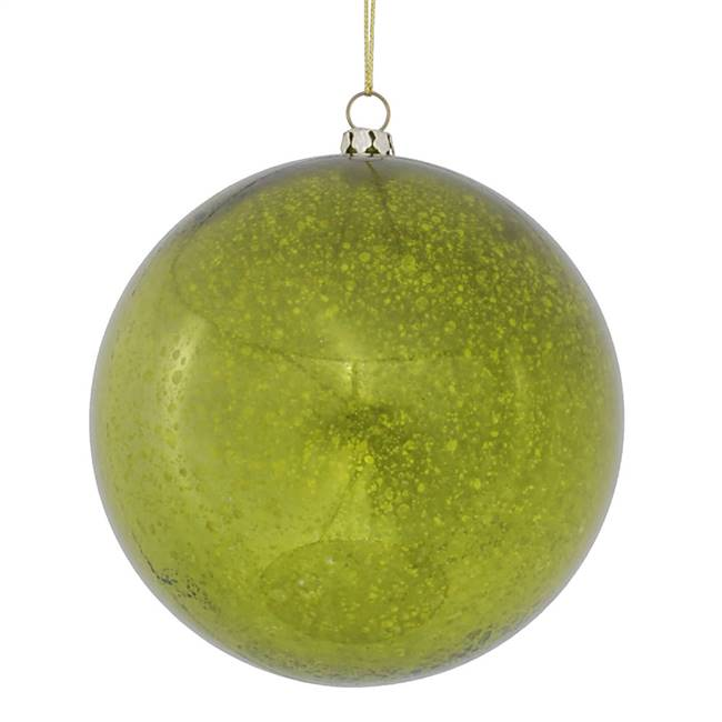 "4.75"" Lime Shiny Mercury Ball 4/bag"