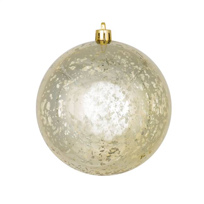 "4.75"" Champagne Shiny Mercury Ball 4/bag"