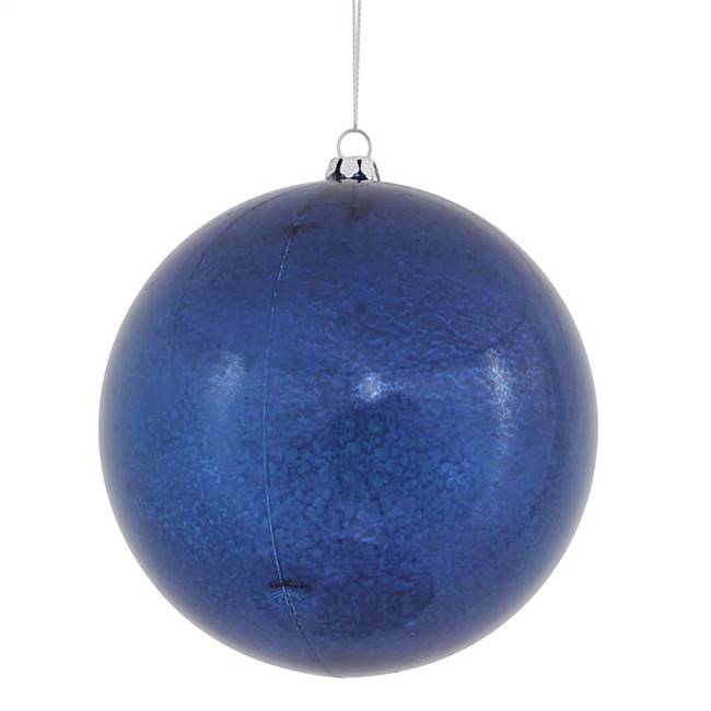 "4.75"" Sea Blue Shiny Mercury Ball 4/bag"